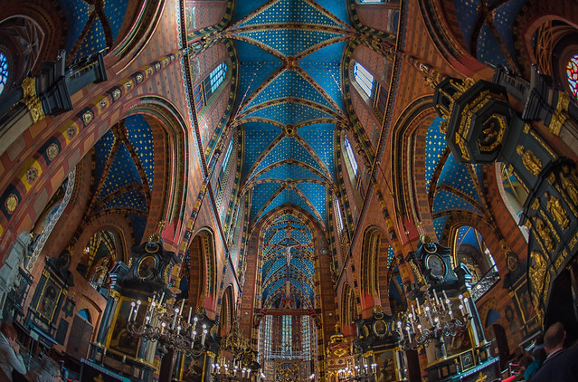 St. Mary's Basilica Fisheye, Nikon D750, AF Fisheye Nikkor 16mm f/2.8D