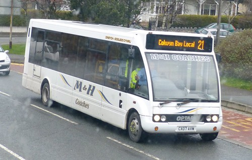 CX07 AVM 'M&H Coaches' Optare Solo on on Dennis Basford's 'railsroadsrunways.blogspot.co.uk'