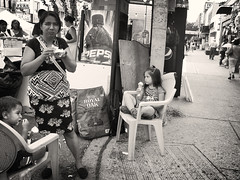Street Vendor and Children, Brooklyn, 2014