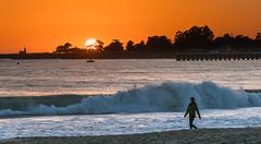 Super Sunset from Seabright Beach
