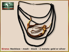 Bliensen - Sirena - Necklace - black