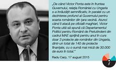 """Radu Carp: """"DPRP din cadrul MAE sprijină pentru anul în curs doar 3 proiecte ale românilor din Ungaria"""""""