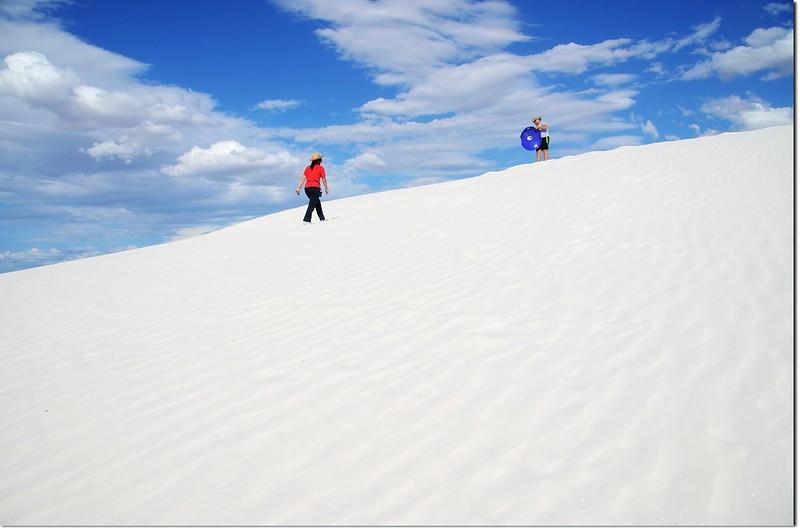 Sledding at White Sands National Monument  1