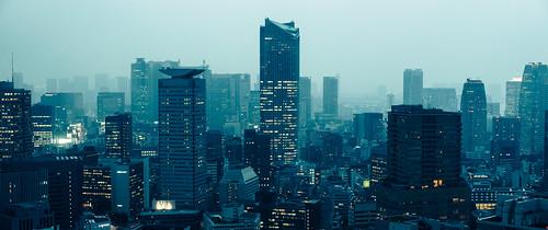 city urban japan skyscraper asian japanese lights tokyo asia cityscape sony towers 55mm future f18 a7 futuristic akasaka toranomonhills