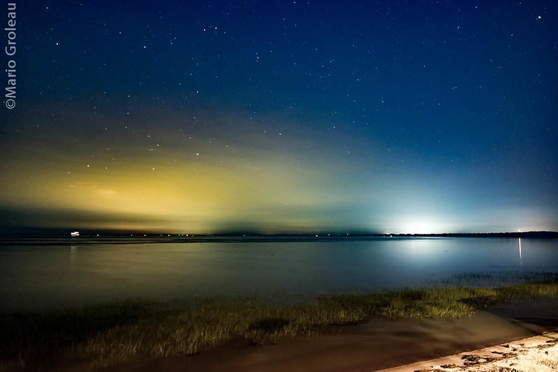 Le Lac St-Pierre sous les étoiles