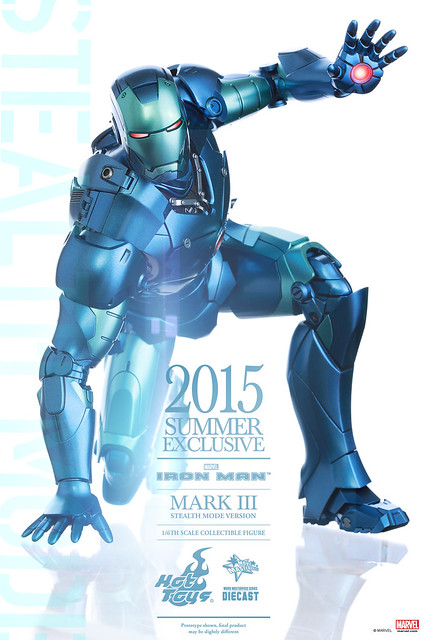 Hot Toys – MMS314D12 – 夏日限定【合金馬克3 匿蹤版】1/6 比例 Iron Man Mark III Stealth Mode Version