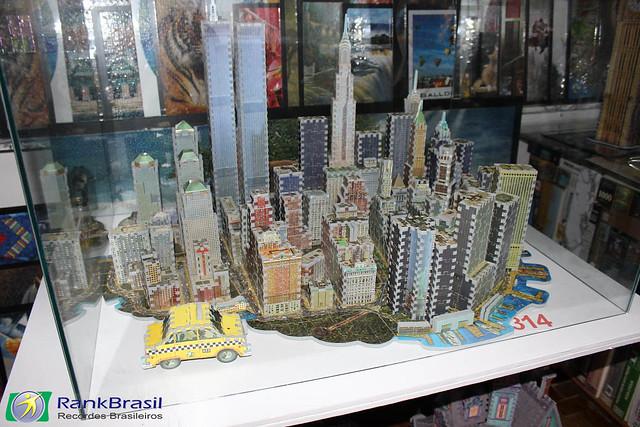 Maior coleção de quebra-cabeças montados