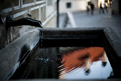 The reflection of old town, Prag by Leica M & Noctilux f/0.95