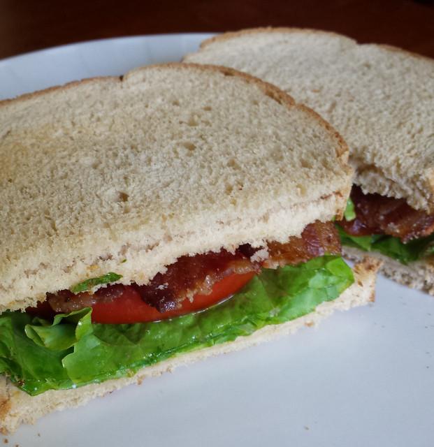 bacon-lettuce-tomato sandwich