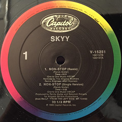 SKYY:NON-STOP(LABEL SIDE-A)