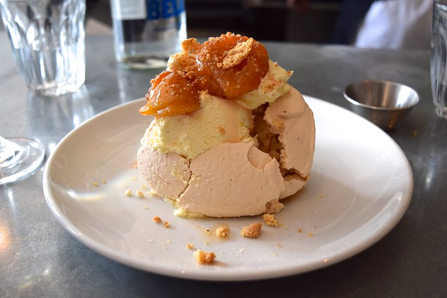 Demerara Meringues with Roasted Plums at John Doe, Westbourne Park | www.rachelphipps.com @rachelphipps