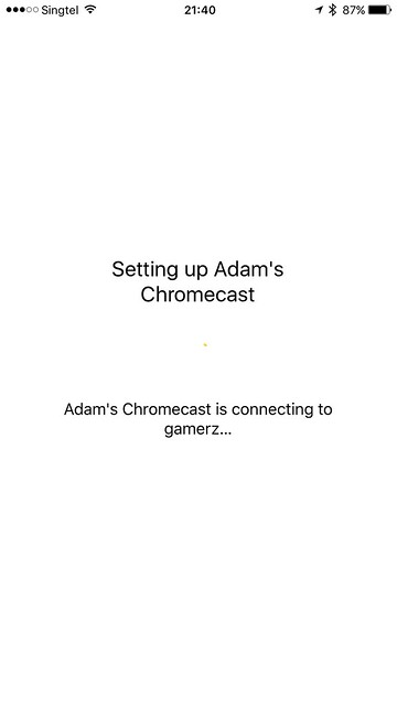 Chromecast iOS App - Setup - Done