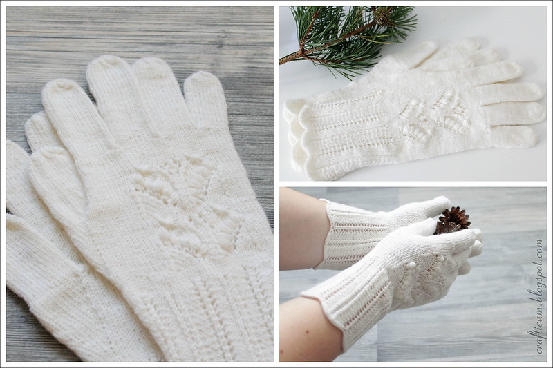 White lily of the valley gloves