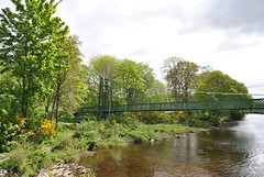 Footbridge over river Tummel