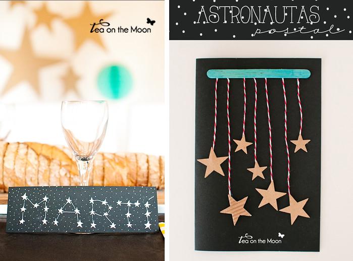 Postal cumpleaños astronautas