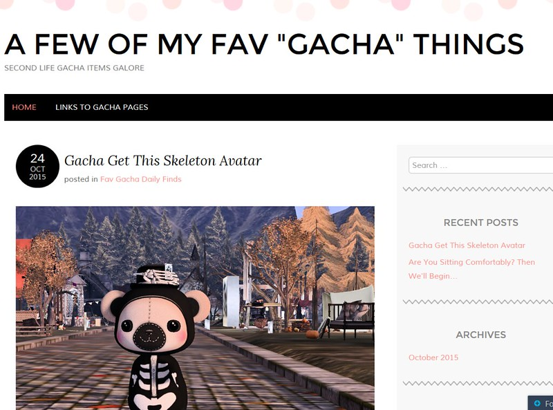 Kathy's Gach Blog Screen Shot
