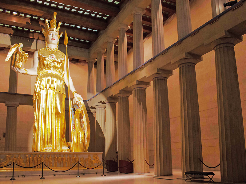 Estatua de Atenea Parthenos realizada por Fidias