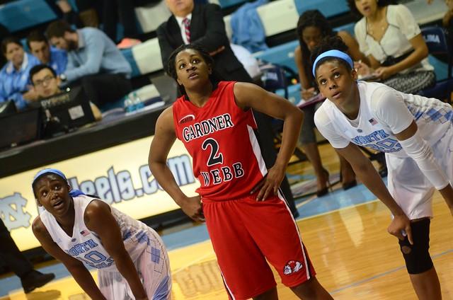 basketball: gardner-webb @ unc