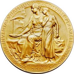 Rous Nobel gold medal reverse