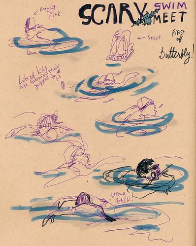 Sketchbook #93: Halloween Swim Meet