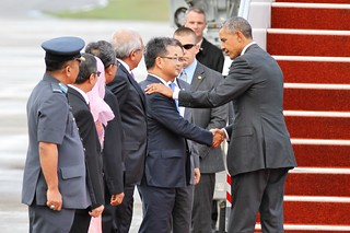 Obama Departure from Malaysia