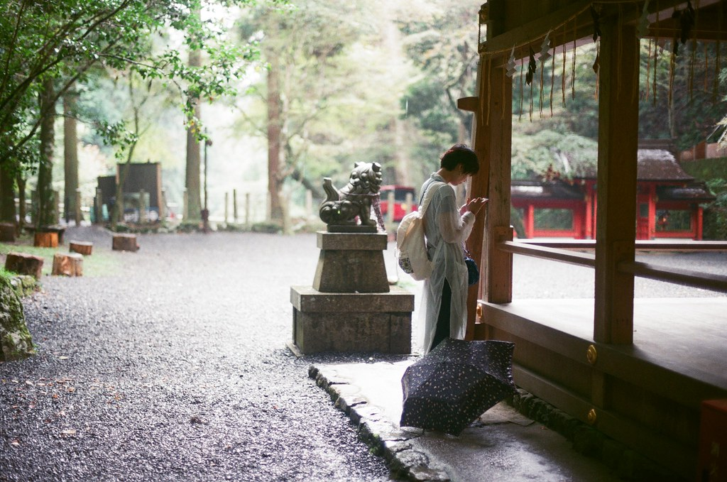 貴船神社 奥宮 京都 Kyoto 2015/09/24 我又看到頭低低的女孩。  Nikon FM2 Nikon AI Nikkor 50mm f/1.4S AGFA VISTAPlus ISO400 0950-0006 Photo by Toomore