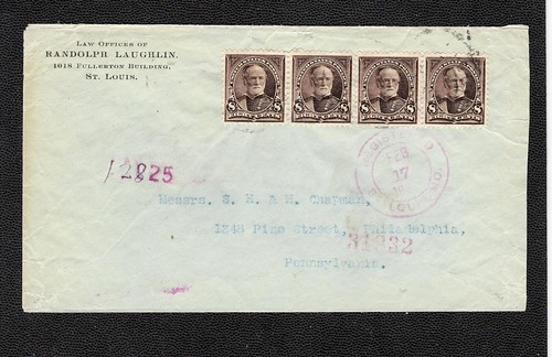 LAUGHLIN, RANDOLPH envelope