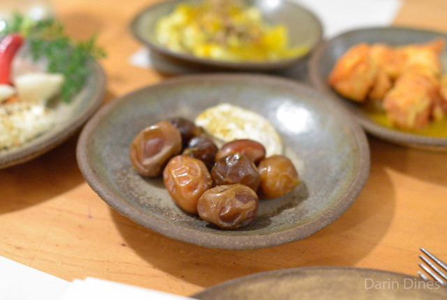 bahri dates with hazelnut crema