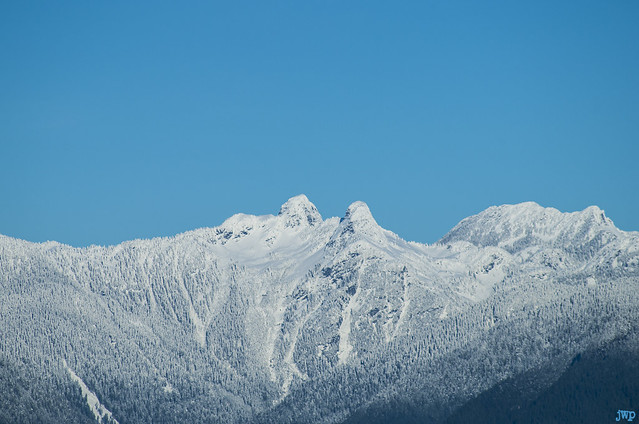 North Shore mountains from Deer Lake Park