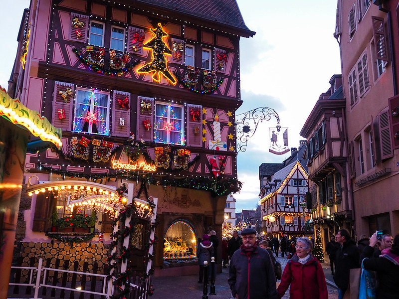 Christmas decorations in Colmar, France
