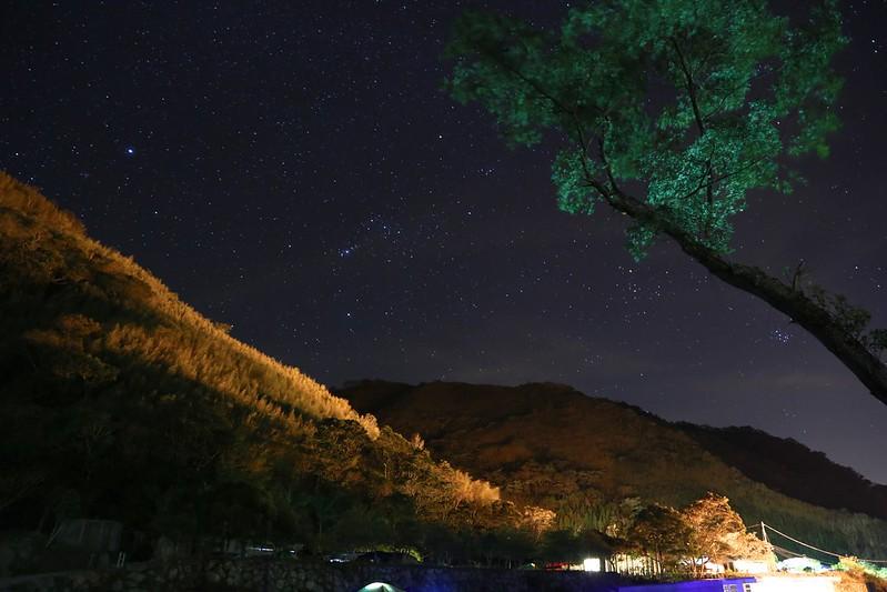 半夜的星空