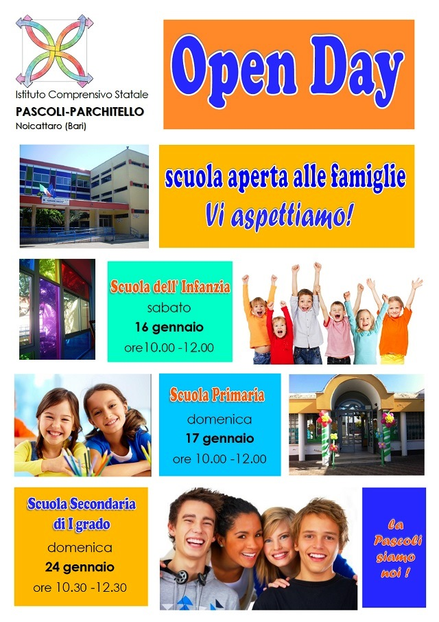 Noicattaro. Open Day Pascoli-Parchitello 2016 intero