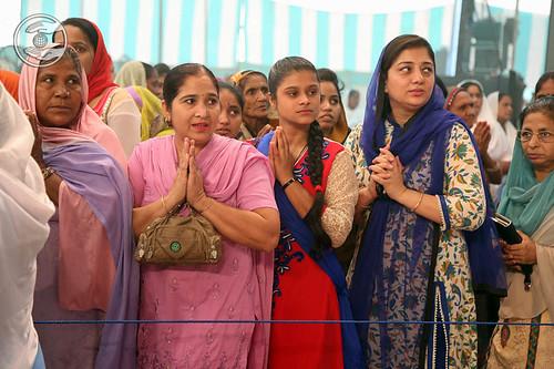 Devotee seeking blessings