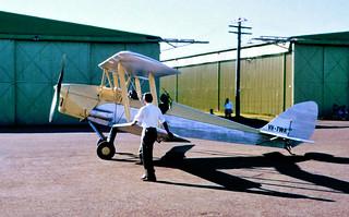 "Dec 1960 - de Havilland DH.82 ""Tiger Moth"" (VH-TWA) at Camden, NSW"