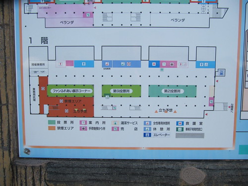 金沢競馬場の立ち予想の位置