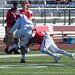 La'Ron Tarkington makes a tackle.