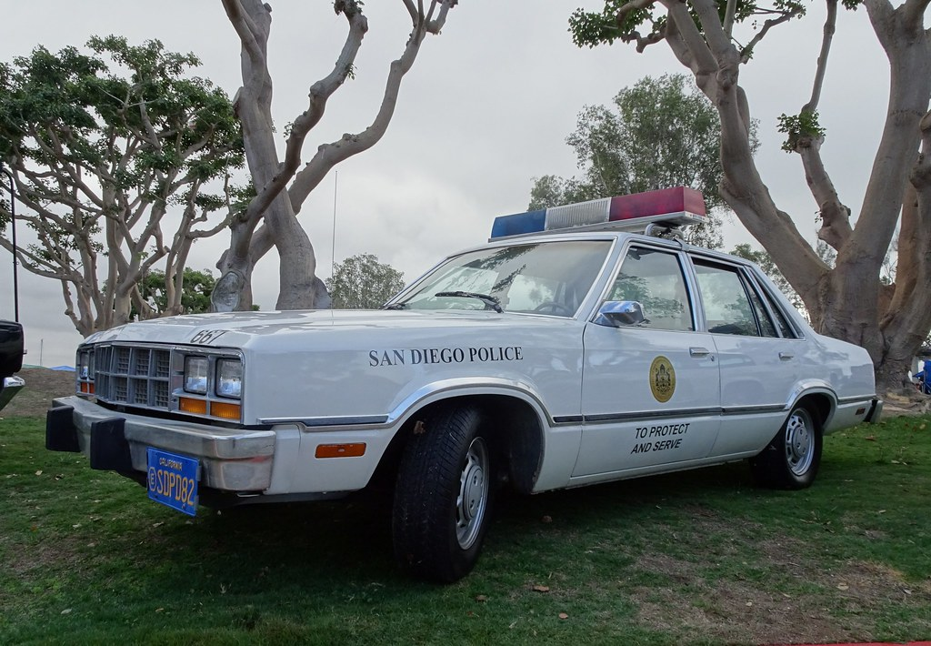 San Diego CA Police - 1982 Ford Fairmont - restored (9) & San Diego CA Police - 1982 Ford Fairmont - restored (9) - a photo ... markmcfarlin.com
