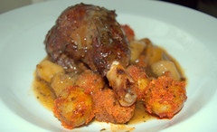 Slow Cooked Lamb Shank with Roasted Root Vegetable…