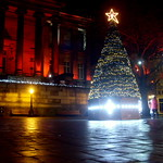 Christmas tree on the flag market, Preston