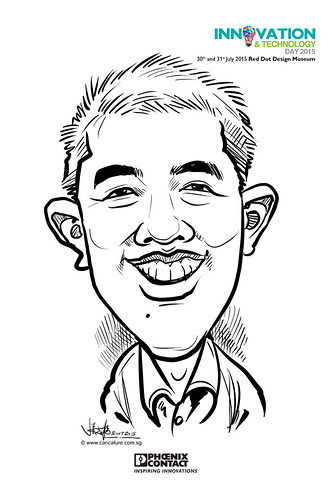 digital live caricature for Innovation & Technology Day 2015 - 13