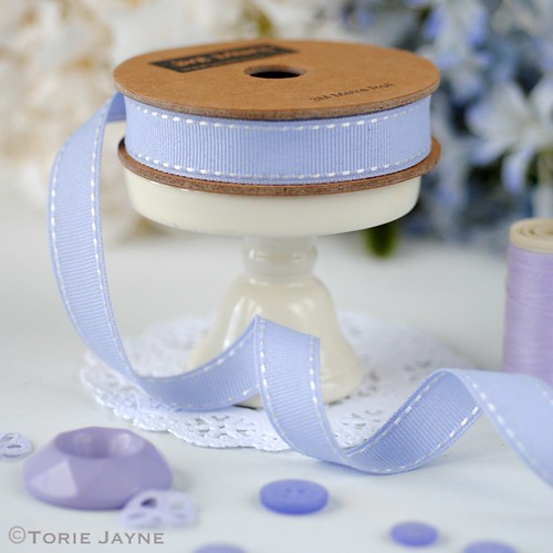 Lavender Stitched Ribbon