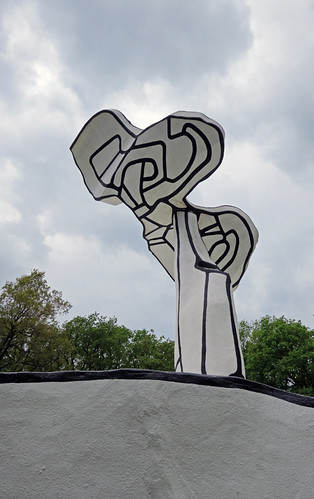 Sculpture by Jean Dubuffet in the Kroller Muller Sculpture Garden near Utrecht, Holland