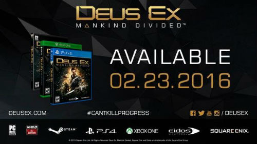 Deus Ex: Mankind Divided out in February