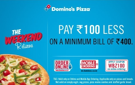 dominos 100 off coupon code