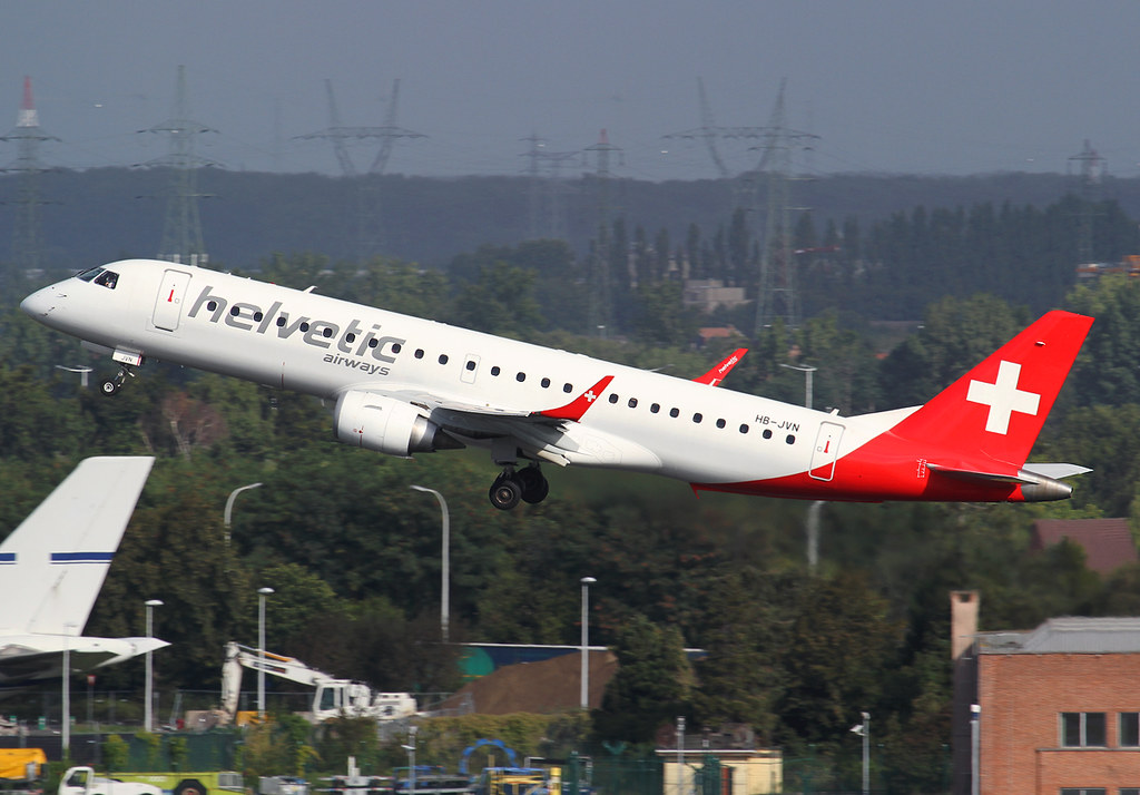 Climbing out of RWY25R bound for Zurich ZRH operating for Swiss. Delivered 05/2009 to Niki.