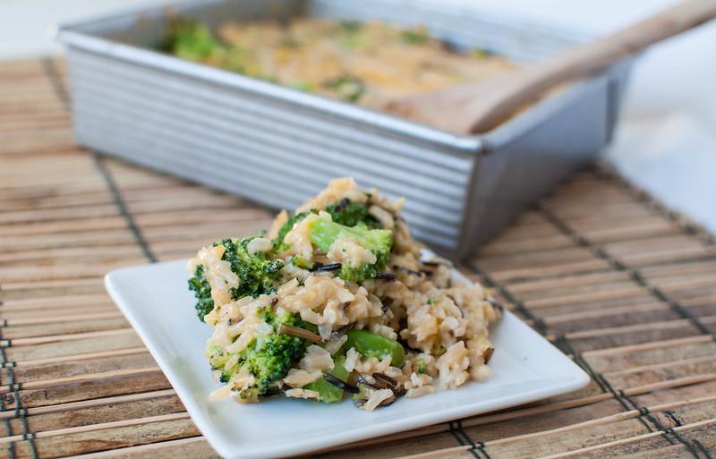 Brown Wild Rice Broccoli Cheese Casserole 2