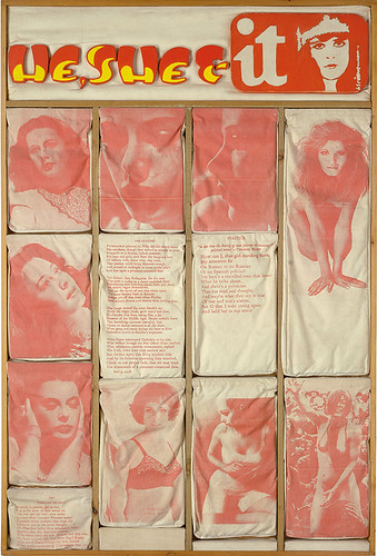 Joe Tilson  Page 19 He, She & It, 1969–70  Screen and oil on canvas on wood relief,  187 x 126 mm Museum Het Valkhof, Nijmegen, The Netherlands © DACS 2015