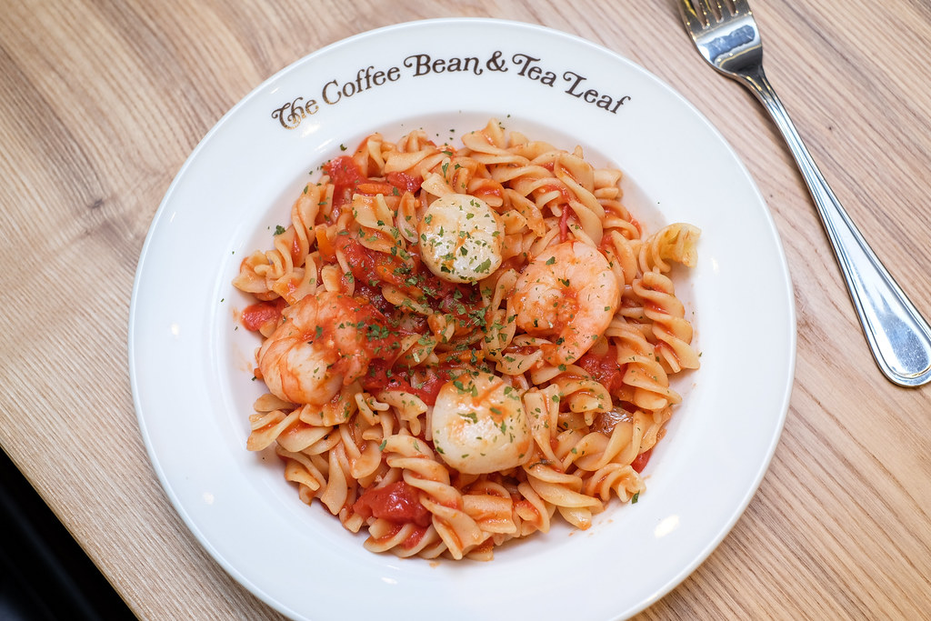 The Coffee Bean Menu: Seafood Fusilli