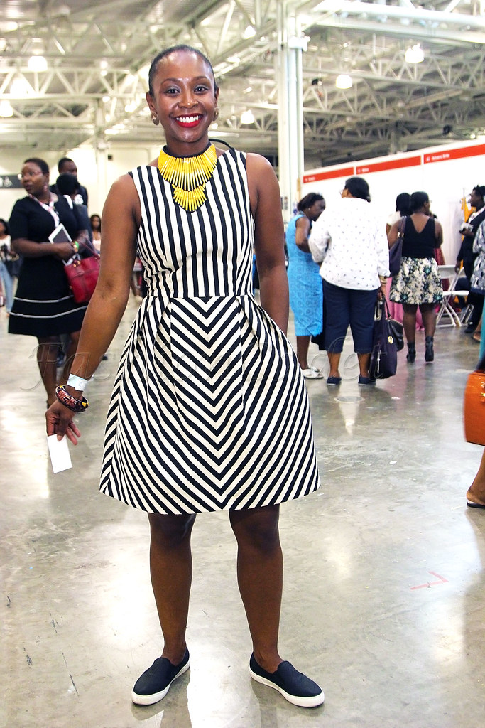 monochrome-black-and-white-stripe-skater-dress-with-plimsoll-shoes,Sleeveless Vertical & chevron sleeveless skater dress, Sleeveless Vertical & chevron skater dress,  monochrome striped skater dress, yellow statement necklace, yellow necklace, street style, street fashion, slip on pumps, pump shoes, pumps