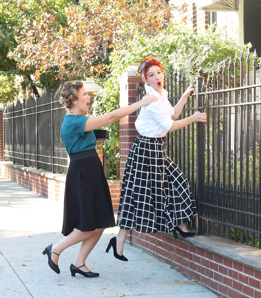 Easy Lucy & Ethel Halloween Costumes from your Closet